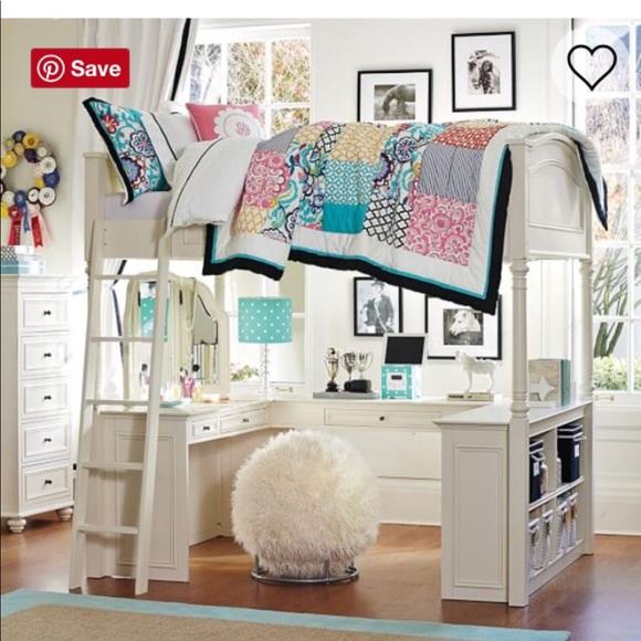 Pottery Barn Teen Other White Full Size Chelsea Loft Bed Poshmark